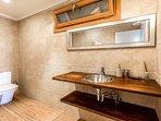 Modern ensuite bathroom with walk in shower