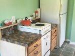 Newly remodeled retro kitchen.