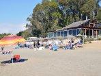 Our closest beach bar restaurant, La Vela Azul, is just a few minutes walk away