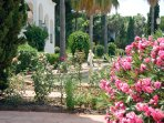 The colourful gardens and tranquil fountains