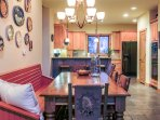 Dining Table, plus additional seating at kitchen bar & breakfast nook