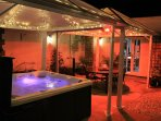 New Hot Tub and gazebos with heating and lighting for year round use