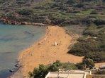 Sandstrand von Ramla, ca. 15 Autominuten entfernt; ideal zum Baden und schnorcheln
