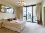 Master bed with city views