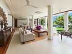 Villa Analaya Kamala Beach Phuket - Living/Dining Area