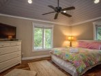 Each bedroom is roomy and appointed with furniture to store all the beach clothes you brought for the trip