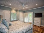 A great master bedroom with a gorgeous view