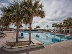 Beautiful Shoals Club Pool overlooking the Ocean