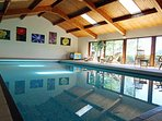 Large heated indoor swimming pool, which is open all year round.