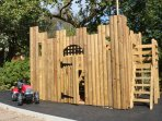 2 storey wooden Play Fort for those imaginative young minds!