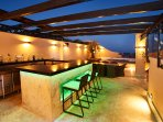 bar feature on private roof top terrace