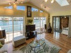 Four sliding glass doors let the sunshine and serenity in.