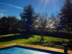 Swim whilst enjoying views of our enclosed orchard