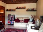 Our snug is perfect for a good read, plenty of DVDs; or access to Netflix
