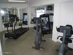 Cardio room at Beach and Racquet Club across the street.