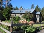 Drive side of Arrowhead Cottage.