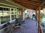 Arrowhead Cottage porch--super comfortable