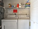 Keep your clothes clean with the in-unit laundry machines.
