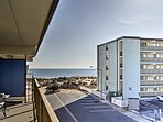 Enjoy sunrises on the private balcony.