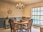 Share holiday meals in the formal dining room.
