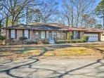 Enjoy the peaceful neighborhood surrounding this red-brick home.