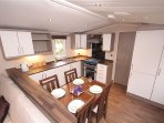 Caravan kitchen/dining Swift Moselle