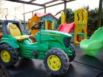 Plenty to keep little ones entertained in the grounds of Red Doors Farm.