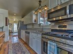 The fully equipped kitchen has everything you need to whip up your favorite recipe including stainless steel appliances.