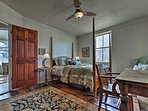 Climb under the covers of the queen bed in the third bedroom.