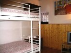 Third bedroom with bunk beds, Playstation 2 and DVD player