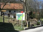 Local walking route plan at entrance to Hocko Pohorje