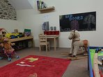 Indoor games room for the under 6's.