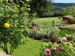 Views of the grounds & surrounding countryside from garden of Holly Cottage.