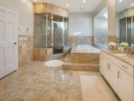 Spa Master Bath with Steam Shower