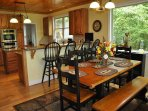 Waters Edge * Nottely Lake Open Chefs Kitchen & Dining Area