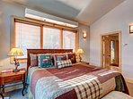 Top floor master bedroom with king bed and private balcony