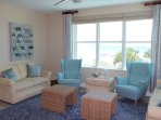 Amazing corner views of the gulf from the living room.