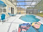 Pool and sunloungers