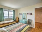 Find 2 twin beds in the third bedroom.