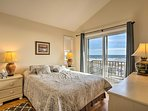 Look out to stunning ocean views from the master bedroom.