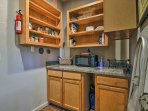 Enjoy the extra room to store your food in the walk-in pantry.