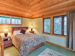 Drift off to sleep on this lovely queen bed.