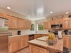 Cooking for 11 will be easy as pie in this fully equipped kitchen.