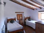 Ensuite first floor twin bedroom with double aspect views over Blanco Valley