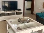 Contemporary lounge with large TV with English channels,sky news and free WIFI.