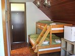 Double room -with 140x200cm bunk below and 90x200cm above, convenient refrigerator and water heater.