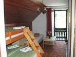 Double room - room with bunk bed, exit to north balcony