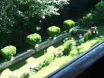 A view of the garden from the southern balcony