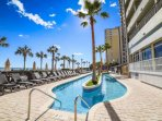 Plenty of oceanfront chairs to soak up the sun.  Kids will love the lazy river