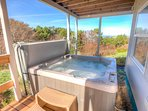 After a day of adventure the hot tub is calling.